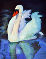 Swan (acrylic) with glazing